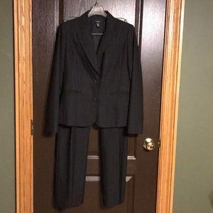 Alfani Black Pin Striped Suit